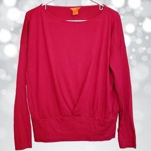 Joe Fresh Long Sleeve Hot Pink Blouse